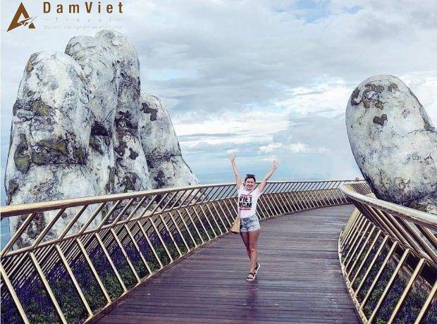 Cây Cầu Vàng ở Đà Nẵng