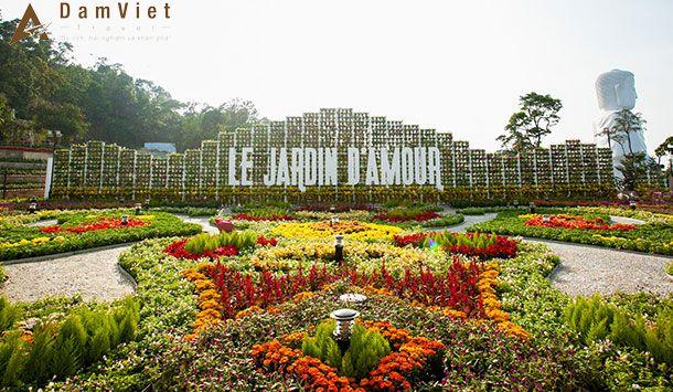 vườn hoa Le Jardin