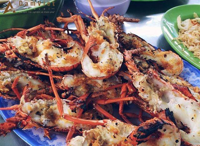Hải sản nướng ở Nha Trang