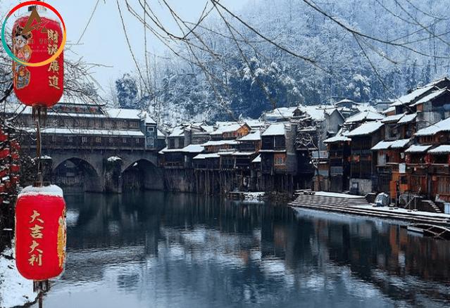 du lịch Phượng Hoàng Cổ Trấn mùa đông