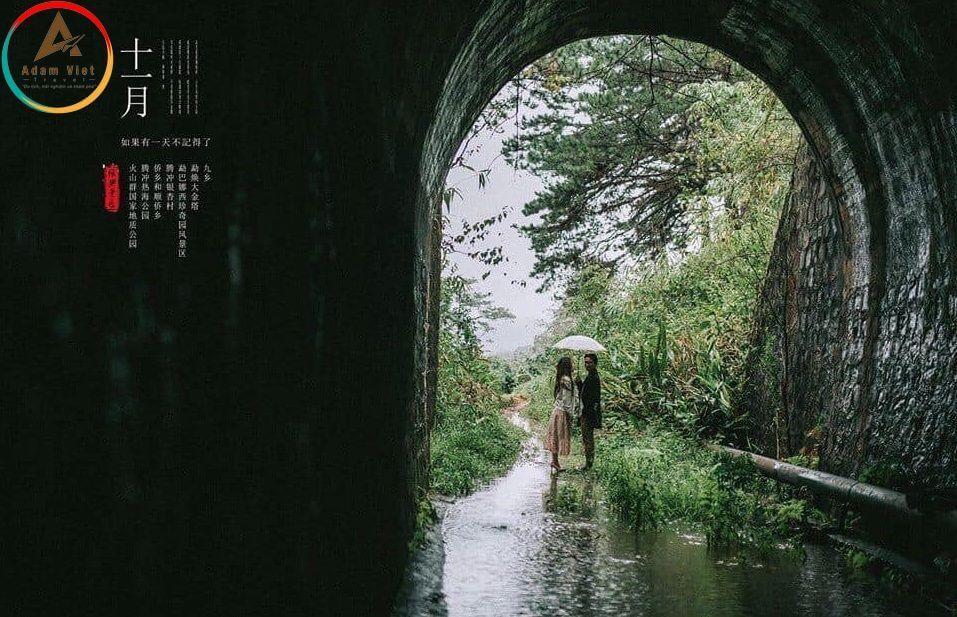 Đường hầm tàu hỏa ở Đà Lạt